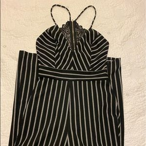 striped romper from envy